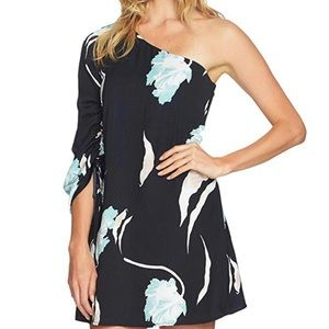1.State One Shoulder Twilight Hour Mint Leaf Dress